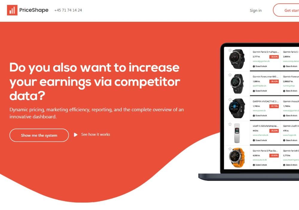 PriceShape price comparison platforme